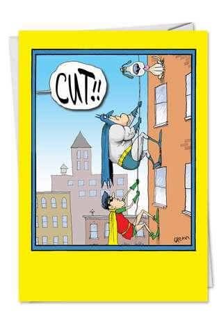 Batman Robin Cut: Hysterical Birthday Greeting Card