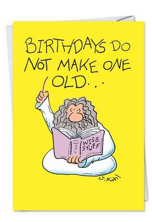 Hilarious Birthday Paper Greeting Card by Joseph Kohl from NobleWorksCards.com - 364 Days