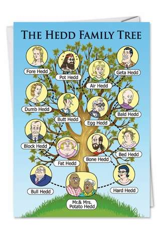Hedd Family Tree: Hysterical Birthday Printed Card
