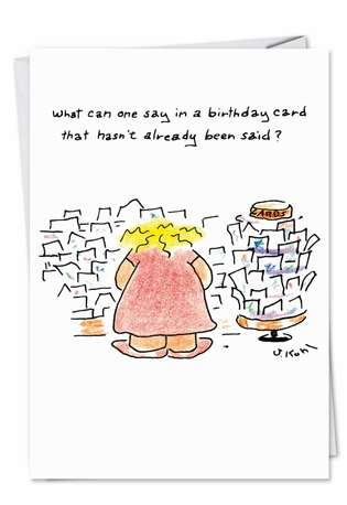 Humorous Birthday Paper Card by Joseph Kohl from NobleWorksCards.com - Birthday New Year