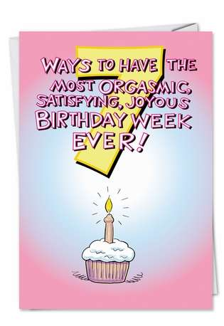 Orgasmic Birthday Sex Adult Funny Greeting Card