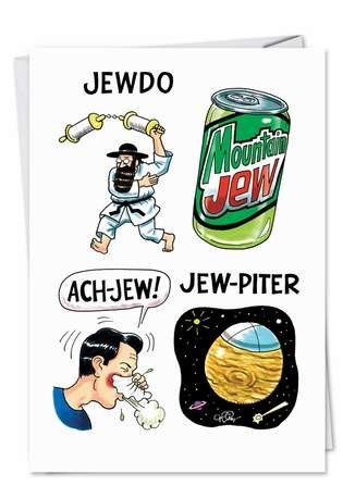Humorous Birthday Greeting Card by Daniel Collins from NobleWorksCards.com - Jewdo