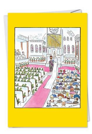 Humorous Congratulations Greeting Card by Nicholas Downes from NobleWorksCards.com - Wedding