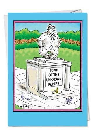 Hysterical Birthday Paper Greeting Card by Daniel Collins from NobleWorksCards.com - Unknown Farter