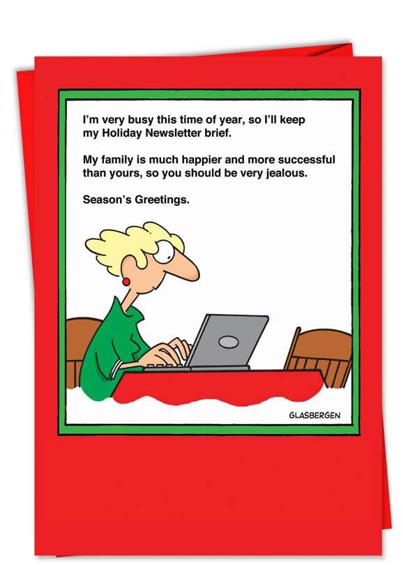 More Successful: Humorous Christmas Printed Card