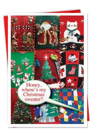 Hysterical Christmas Printed Card from NobleWorksCards.com - Ugly Christmas Sweaters