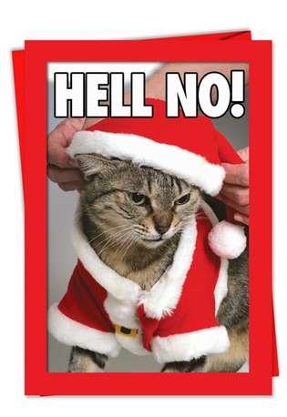 Hell No Christmas Card