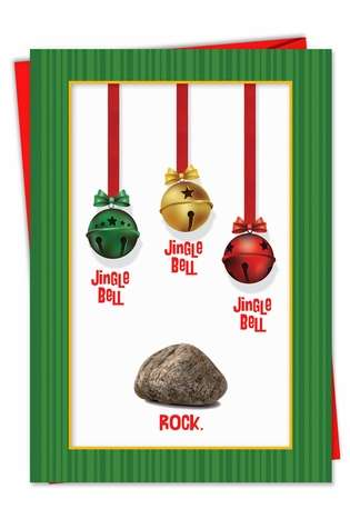 Funny Christmas Printed Card from NobleWorksCards.com - Jingle Bell Rock