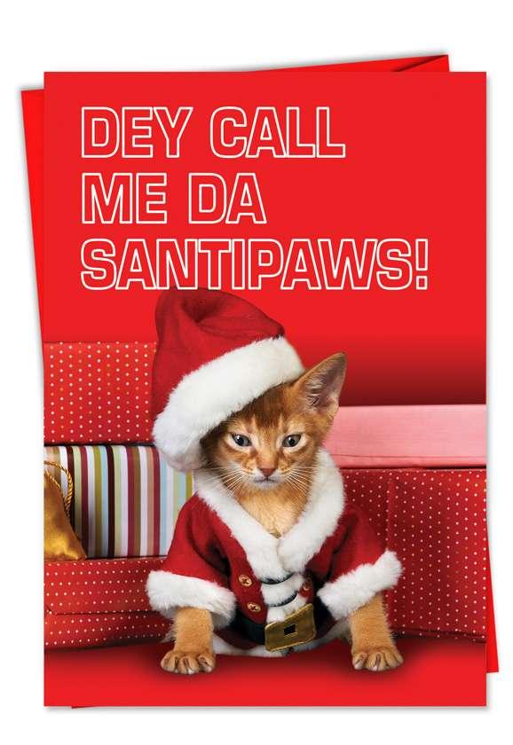 Santipaws: Hilarious Christmas Printed Card