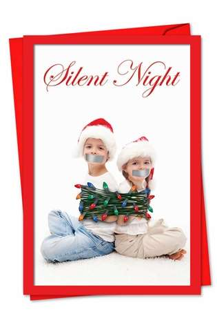 Silent Night: Hysterical Blank Printed Greeting Card