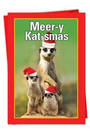 Meery Katsmas: Hilarious Christmas Printed Greeting Card