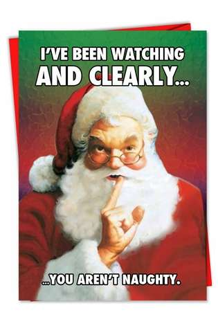 Humorous Christmas Printed Greeting Card from NobleWorksCards.com - You Are Nutty