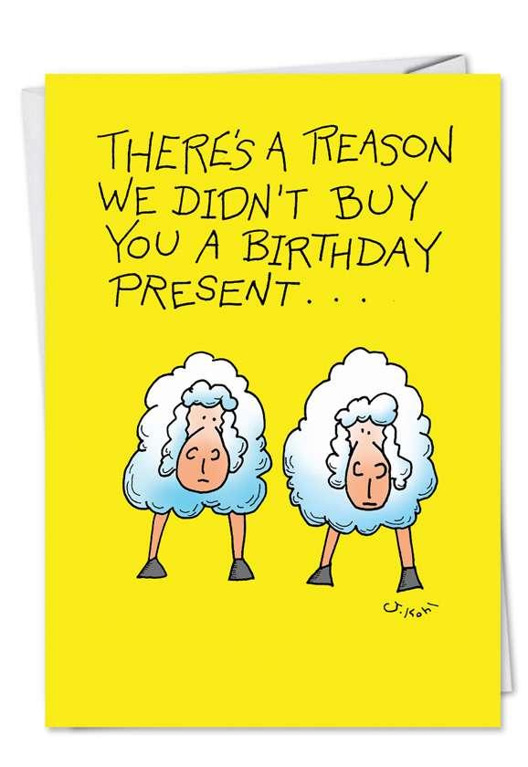 Too Sheep: Hilarious Birthday Printed Card
