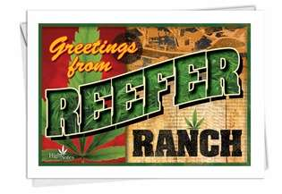 Hysterical Birthday Printed Card from NobleWorksCards.com - Reefer Ranch