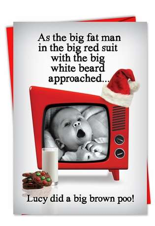 Hysterical Christmas Greeting Card from NobleWorksCards.com - Big Brown Poo