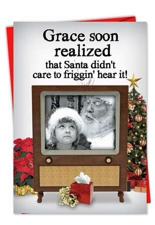 Friggin Hear It: Funny Christmas Greeting Card