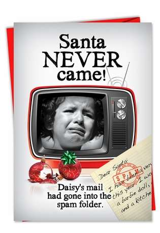 Hilarious Christmas Greeting Card from NobleWorksCards.com - Spam Letter