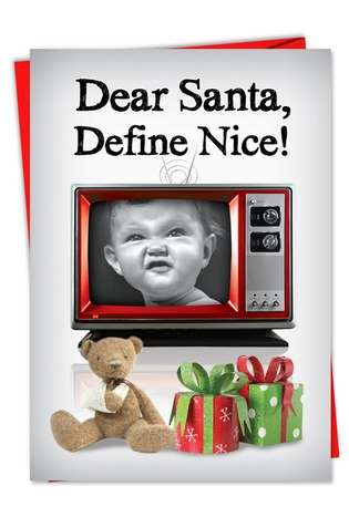 Hysterical Christmas Paper Greeting Card from NobleWorksCards.com - Defined Good