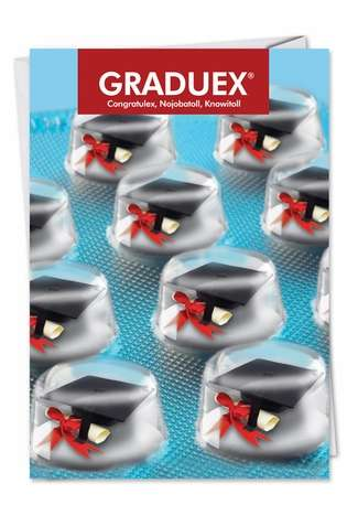 Hysterical Graduation Paper Card from NobleWorksCards.com - Graduex