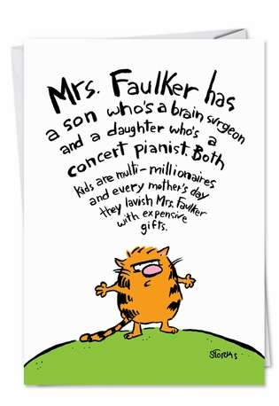 Hysterical Mother's Day Greeting Card by Patricia Storms from NobleWorksCards.com - Mother Faulker