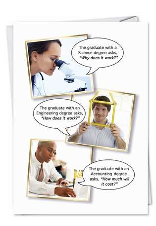Humorous Graduation Paper Card from NobleWorksCards.com - Fries With that