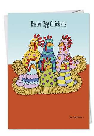 Hysterical Easter Greeting Card by Maria Scrivan from NobleWorksCards.com - Easter Chicken