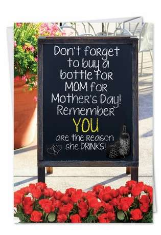 Humorous Blank Printed Card from NobleWorksCards.com - Mothers Love