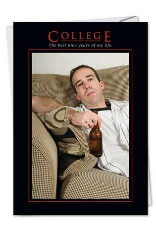 Hysterical Graduation Printed Card from NobleWorksCards.com - College