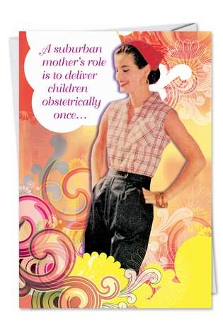 Humorous Mother's Day Printed Card from NobleWorksCards.com - Suburban Mom