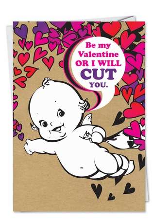 Hysterical Valentine's Day Paper Card from NobleWorksCards.com - Cut You
