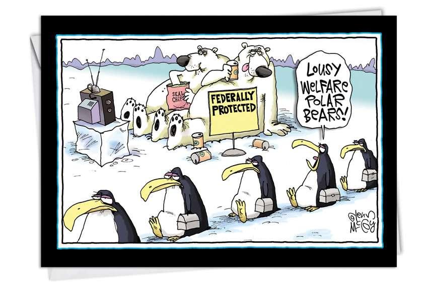 Welfare Polar Bears: Hysterical Birthday Paper Card