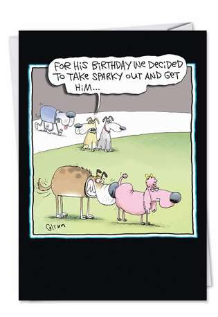 Funny Birthday Greeting Card by Glenn McCoy from NobleWorksCards.com - Shit Faced