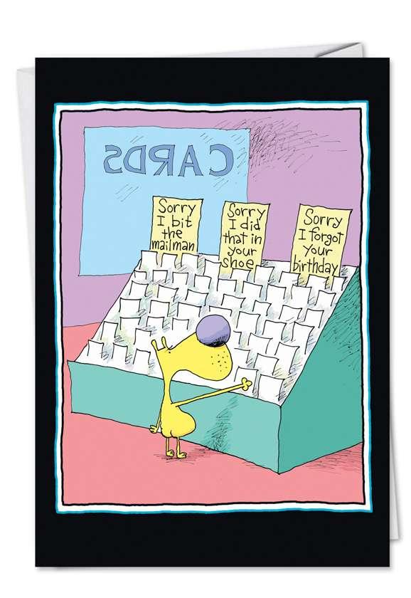 Sorry I Forgot: Hilarious Birthday Printed Card