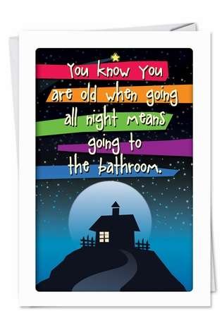 Hilarious Birthday Printed Card from NobleWorksCards.com - Going All Night