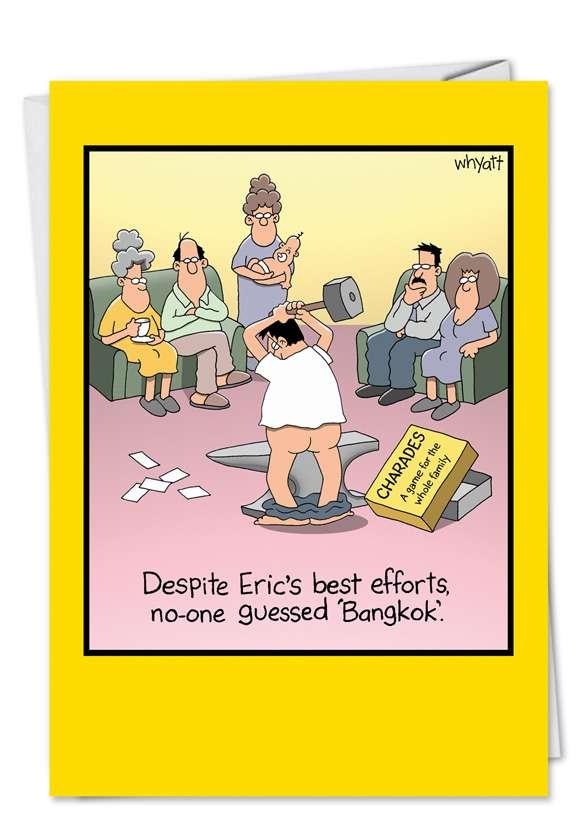 Humorous Blank Printed Greeting Card by Tim Whyatt from NobleWorksCards.com - Bangkokless