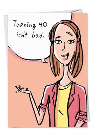 Humorous Birthday Paper Greeting Card from NobleWorksCards.com - Morning After