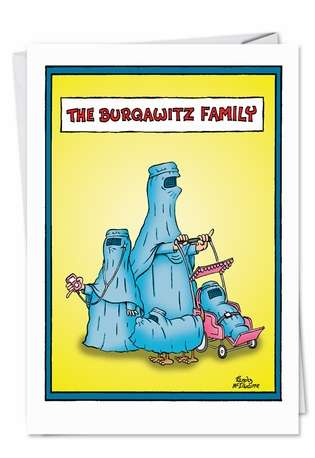 Hilarious Birthday Printed Card from NobleWorksCards.com - Burqawitz Family