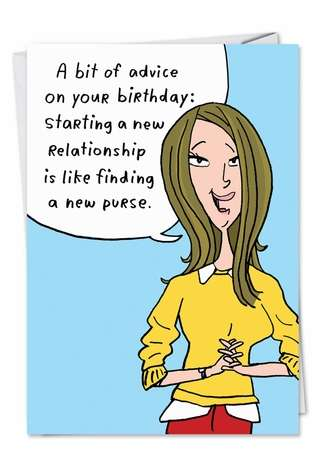 Hilarious Birthday Paper Card by Stanley Makowski from NobleWorksCards.com - New Purse