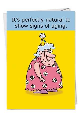 Hysterical Birthday Paper Card by Stanley Makowski from NobleWorksCards.com - Perfectly Natural