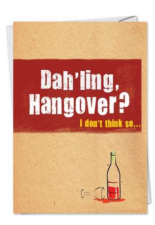 Hilarious Get Well Printed Greeting Card from NobleWorksCards.com - Wine Flu
