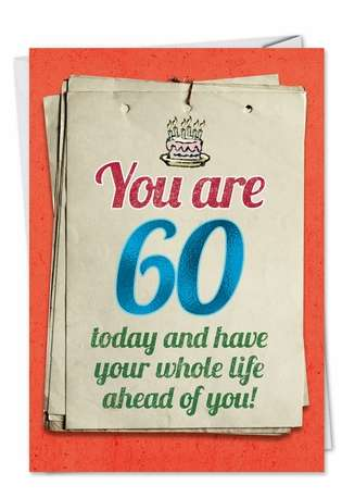 Funny Birthday Greeting Card from NobleWorksCards.com - You are 60 Bitch