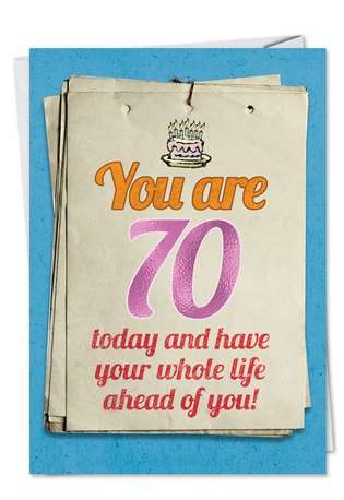 You are 70 Bitch: Hilarious Birthday Printed Card