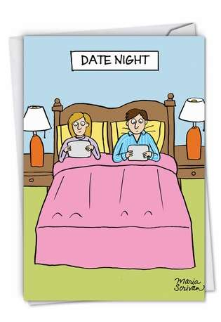 Hilarious Anniversary Greeting Card by Maria Scrivan from NobleWorksCards.com - Date Night