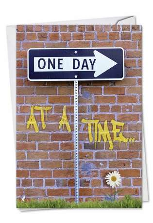 Humorous Anniversary Greeting Card from NobleWorksCards.com - One Day At A Time