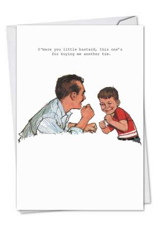 Funny Birthday Father Paper Greeting Card by SuperIndusatrialLove from NobleWorksCards.com - Another Tie
