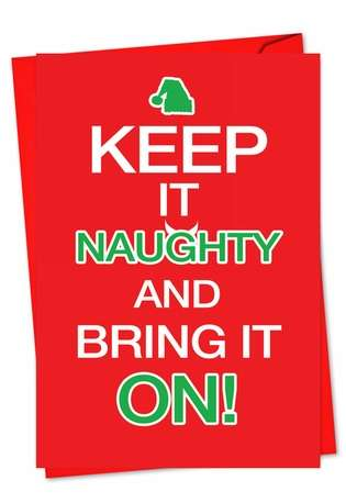 Bring it on: Funny Christmas Printed Greeting Card