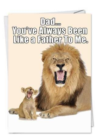 Hilarious Father's Day Paper Card from NobleWorksCards.com - Like a Father