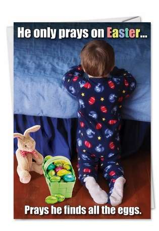 Hysterical Easter Greeting Card from NobleWorksCards.com - Pray on Easter