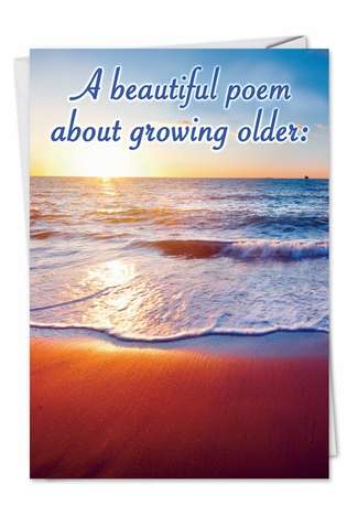 Beautiful Poem: Funny Birthday Paper Card