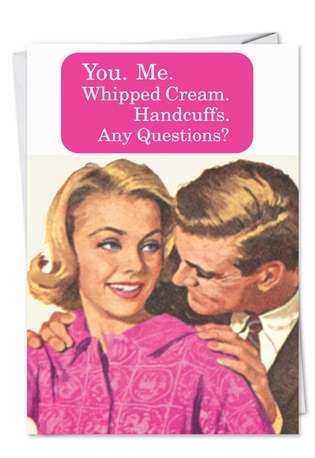 Humorous Anniversary Paper Card by Ephemera from NobleWorksCards.com - Whipped Cream